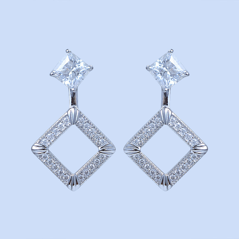 Diamond Drop Jewelry Earrings
