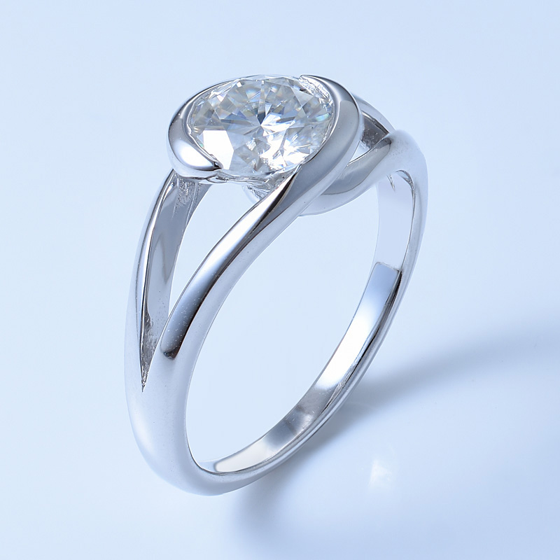 Bypass Solitaire Diamond Ring